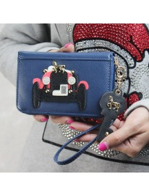 HO3571E - Dompet Fashion Model Mobil Retro (Biru Tua)