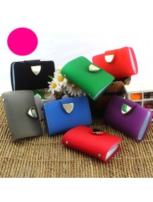 HO3573 - Dompet Kartu Fashion Trans Bling Color (Ungu)