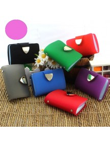 HO3573E - Dompet Kartu Fashion Trans Bling Color (Ungu Muda)