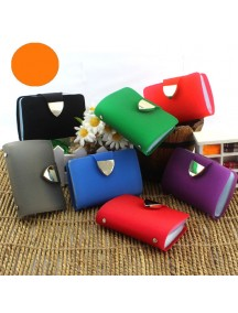 HO3573H - Dompet Kartu Fashion Trans Bling Color (Orange)