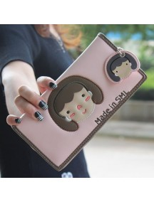 HO3578 - Dompet Fashion Cute Girls (Pink Muda)