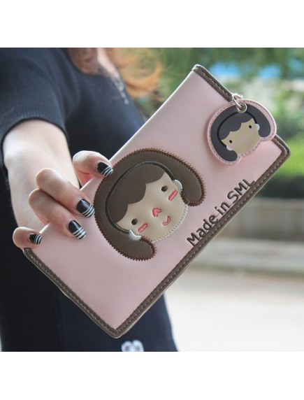 HO3578 - Dompet Fashion Cute Girls (Pink Muda)