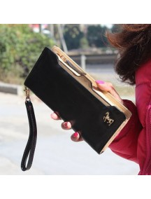 HO3584C - Dompet Fashion Zipper Kuda (Hitam)