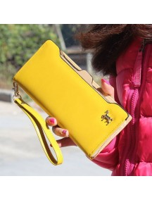 HO3584E - Dompet Fashion Zipper Kuda (Kuning)