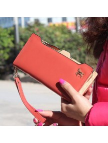 HO3584F - Dompet Fashion Zipper Kuda (Merah)