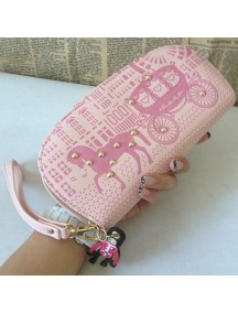 HO3586B - Dompet Fashion Zipper Kereta Kuda (Pink)