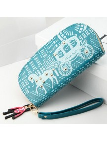 HO3586E - Dompet Fashion Zipper Kereta Kuda (Biru)