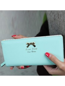 HO3587D - Dompet Fashion Dot Pita (Biru Muda)