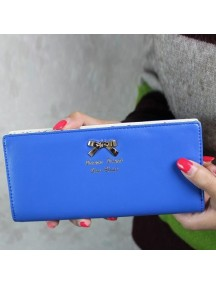 HO3587E - Dompet Fashion Dot Pita (Biru Tua)