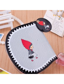 HO4096 - Dompet Fashion Little Girl Red Dot (Hitam)