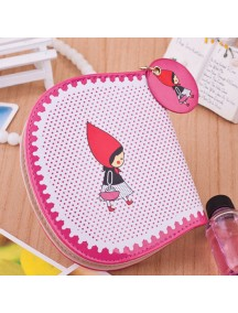 HO4096B - Dompet Fashion Little Girl Red Dot (Ungu)