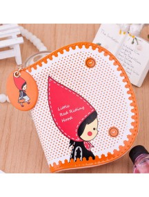 HO4096D - Dompet Fashion Little Girl Red Dot (Orange)