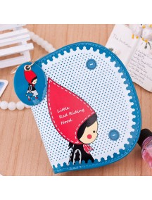 HO4096E - Dompet Fashion Little Girl Red Dot (Biru)