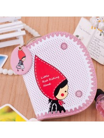 HO4096F - Dompet Fashion Little Girl Red Dot (Pink)