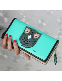 HO4100 - Dompet Fashion Model Burung Hantu (Hijau)
