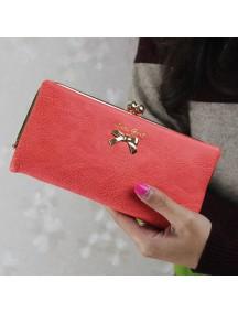 HO4108 - Dompet Fashion Matte Bow (Merah)