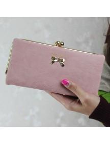 HO4108B - Dompet Fashion Matte Bow (Pink)