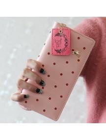 HO4109B - Dompet Fashion Hollow Dot Puppy (Pink)