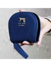 HO4111 - Dompet Fashion Bow Leather Shell (Biru)
