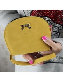 HO4111B - Dompet Fashion Bow Leather Shell (Kuning)