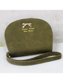 HO4111C - Dompet Fashion Bow Leather Shell (Hijau)