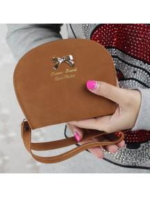 HO4111D - Dompet Fashion Bow Leather Shell (Coklat)
