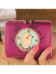 HO4114B - Dompet Fashion Cute Lace Ayam (Ungu)