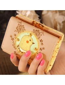 HO4114C - Dompet Fashion Cute Lace Ayam (Pink)