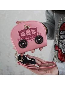 HO4115D - Dompet Fashion Kereta Retro (Pink)