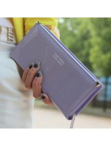 HO4116 - Dompet Fashion Love Fold Bucket (Ungu)