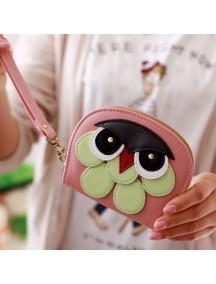 HO4118B - Dompet Fashion Model Burung Hantu (Pink Muda)