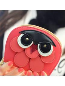 HO4118D - Dompet Fashion Model Burung Hantu (Pink Tua)