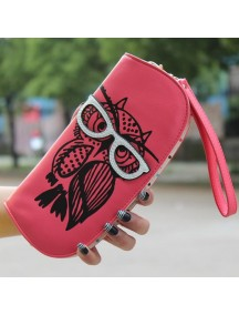 HO4119D - Dompet Fashion Owl With Eyeglasses (Merah)