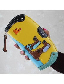 HO4122 - Dompet Fashion Puppy Zipper (Kuning)