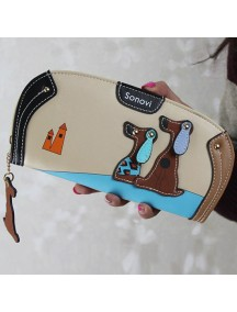 HO4122F - Dompet Fashion Puppy Zipper (Cream)