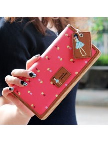 HO4130F - Dompet Fashion Purse Zipper Mori Women (Merah)
