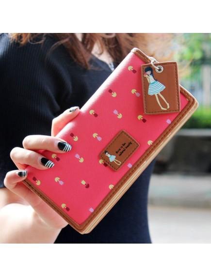 HO4130F - Dompet Fashion Purse Zipper Mori Women (Merah)