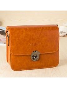 HO4133B - Tas Fashion Simpel Leather (Coklat)