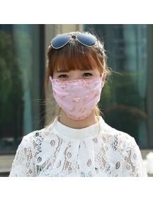 HO4175 - Masker Anti Debu Fashion Model Bunga (PINK)