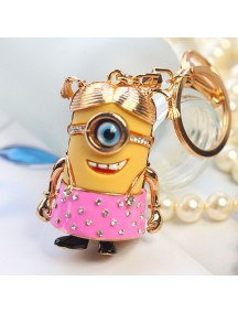 HO4212 - Minion Hanging Pendant Bag , Key Chain Diamond
