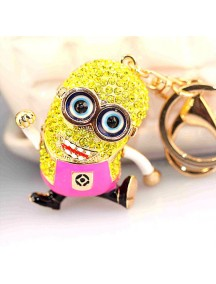 HO4214 - Minion Hanging Pendant Bag , Key Chain Diamond