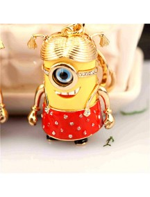 HO4215 - Minion Hanging Pendant Bag , Key Chain Diamond