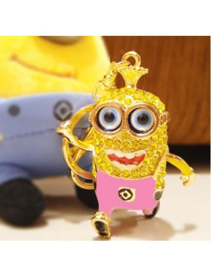 HO4217 - Minion Hanging Pendant Bag , Key Chain Diamond