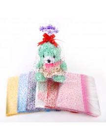 HO4320E - Plastic Motif Gift Bag Transparent 18cmx25cm