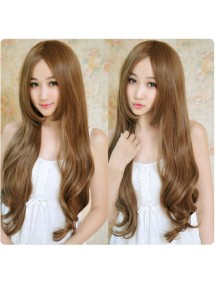 HO4366 - Hair Wig / Rambut Palsu Panjang Curly (Light Brown)