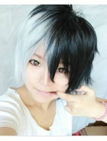 HO4513 -  Short Wig Japan Harajuku Gradient Black & White