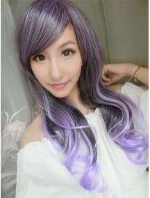 HO4515 -  Wig Japan Harajuku Gradient Purple Curly