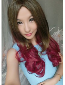 HO4516 -  Wig Japan Harajuku Gradient Pink Curly
