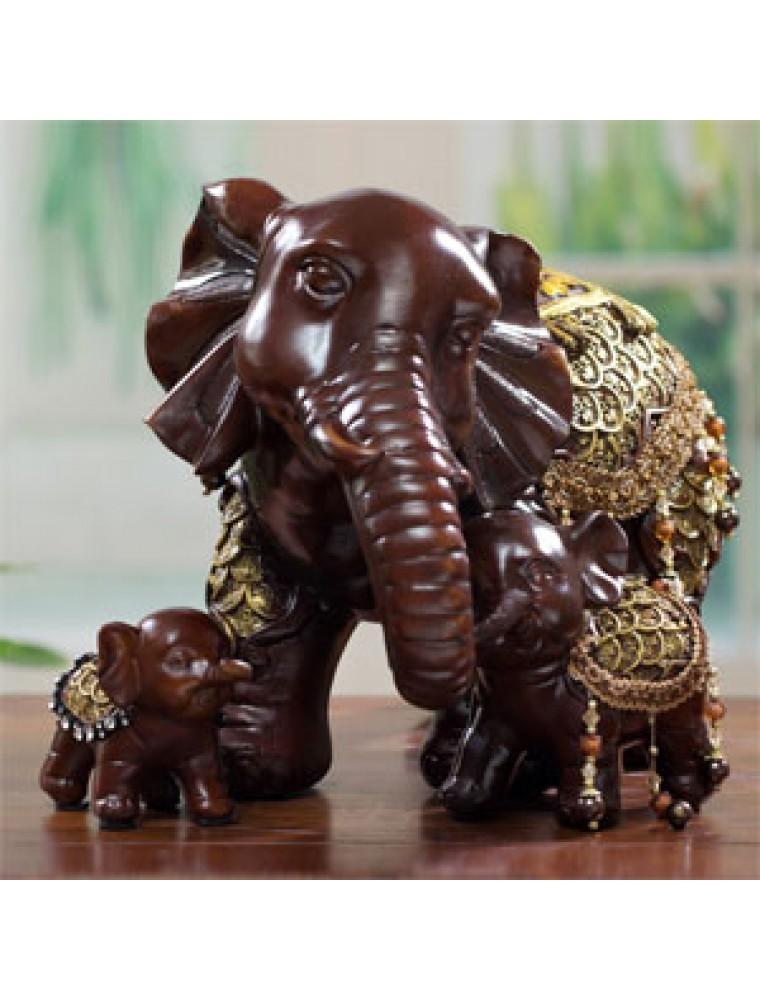 Hf1027 Pajangan Dekorasi Gajah Thailand 1 Set