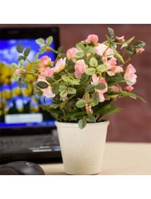 HF1112 - Bunga +Pot  Dekorasi (Soft Pink)